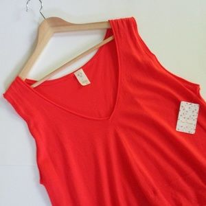 We The Free Peachy Tank Hot Coral Size M